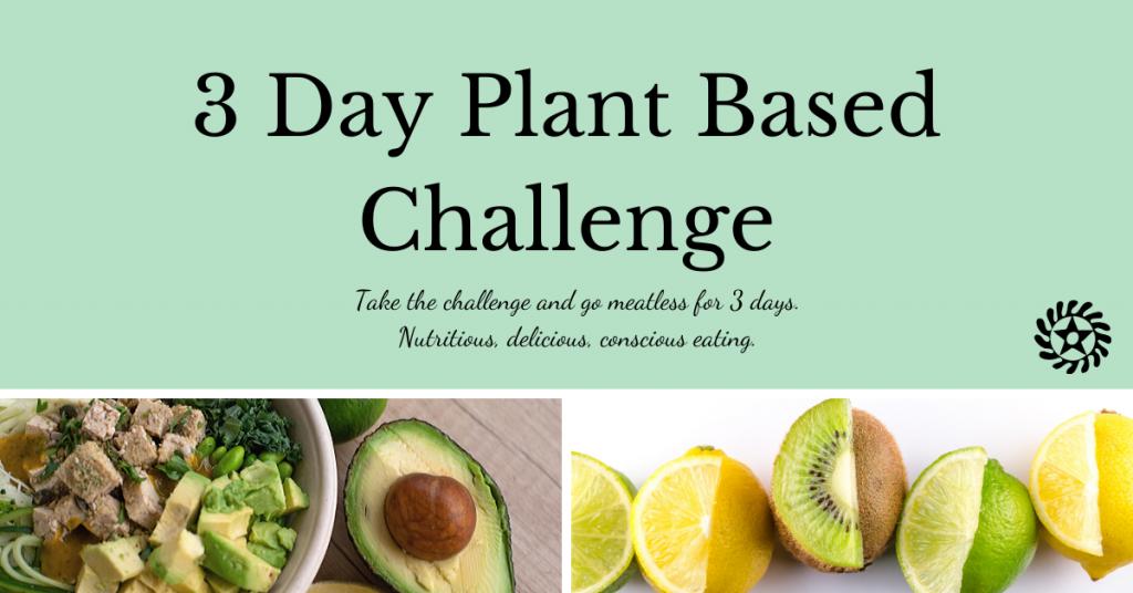 3 day plant-based challenge