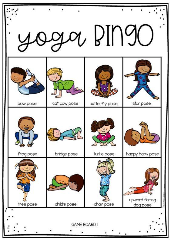 Yoga Bingo for kids